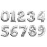 Цифра серебро с гелием - (на выбор)