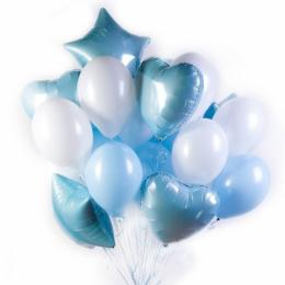"""Набор из шариков с гелием - """"Голубое облако"""""""