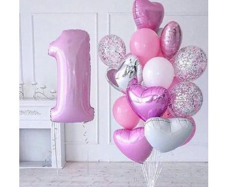 """Набор из шариков - """"Нежно розовый"""""""