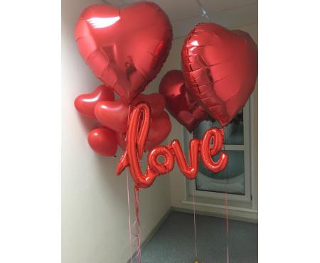 """Набор из шариков - """"LOVE 2"""""""