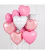 """Набор из шариков - """"Облако из сердец фольгированных №2"""""""