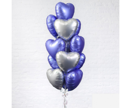 """Набор из шариков - """"Облако из сердец фольгированных №3"""""""