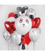 """Набор из шариков - """"Любовь панды"""""""