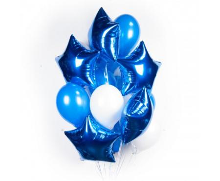 """Набор из шариков - """"Синие сияние"""""""
