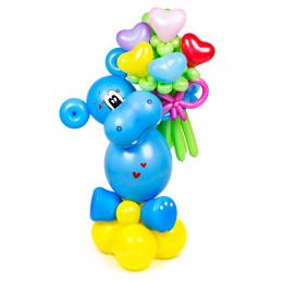 """Фигура из шаров """"Бегемотик"""""""
