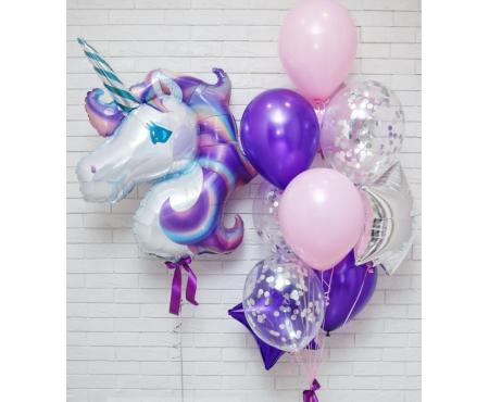 """Набор из шариков - """"Фиолетовый единорог"""""""