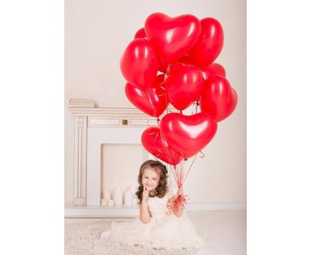 Набор из воздушных шаров красные сердца