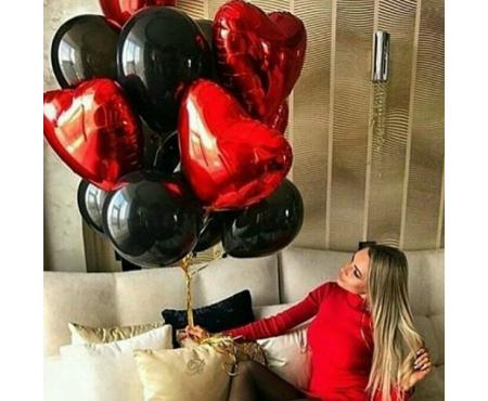 Набор из воздушных шаров сердца