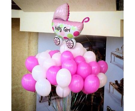 Набор из воздушных шаров на выписку
