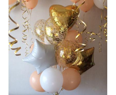 Набор из воздушных шаров Золотой