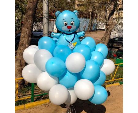 Набор из воздушных шаров фольгированная фигура Мишка